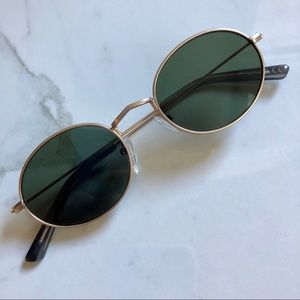 Madewell black round sunglasses